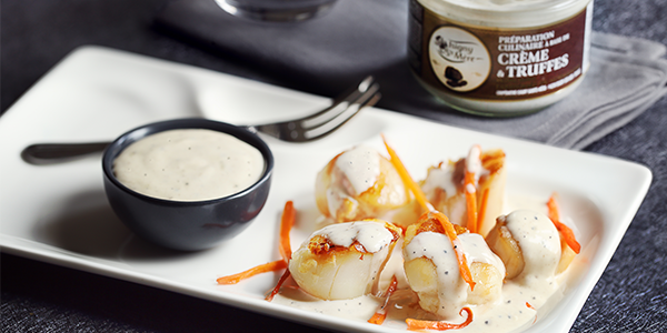 Saint-Jacques scallops with truffle cream