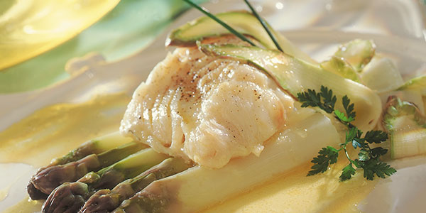 Cod steacks casseroled with lightly salted butter