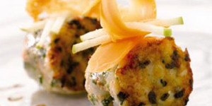 Cooked and raw langoustine tartare with cooked and raw Isigny Red Label mature Mimolette