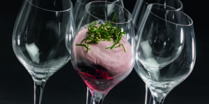 Smoothie framboise menthe