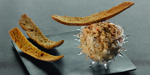 Scallop rillettes with lemon and  vanilla
