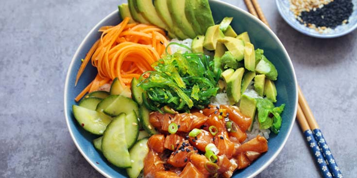 Poke bowl* salmon